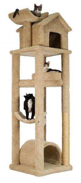 how to make a carpet cat tree